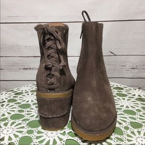 UGG Shoes - NWOB UGG Corrine Taupe Suede Ankle Boots